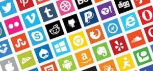 ikoner på sociale medier